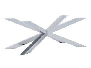 Noga metalowa do stolika Pająk Slim chrom L